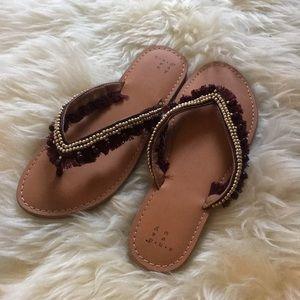 Women's embellished flip flops